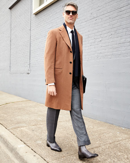 Single-Breasted Cashmere Top Coat