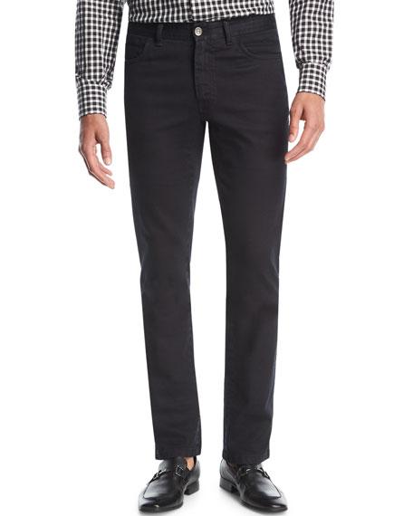 Brioni Stretch-Denim Slim-Straight Jeans