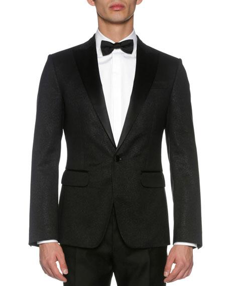 Dsquared2 London Jacquard Tuxedo Jacket, Black
