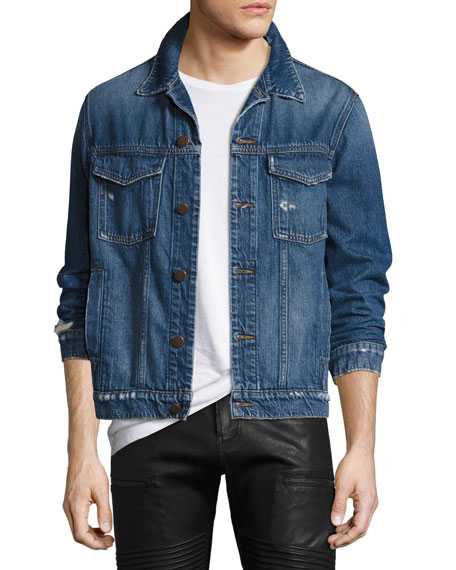 J Brand Men's Gorn Denim Trucker Jacket, Medium