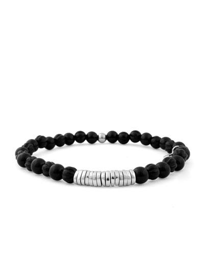 Men's Onyx Beaded Bracelet