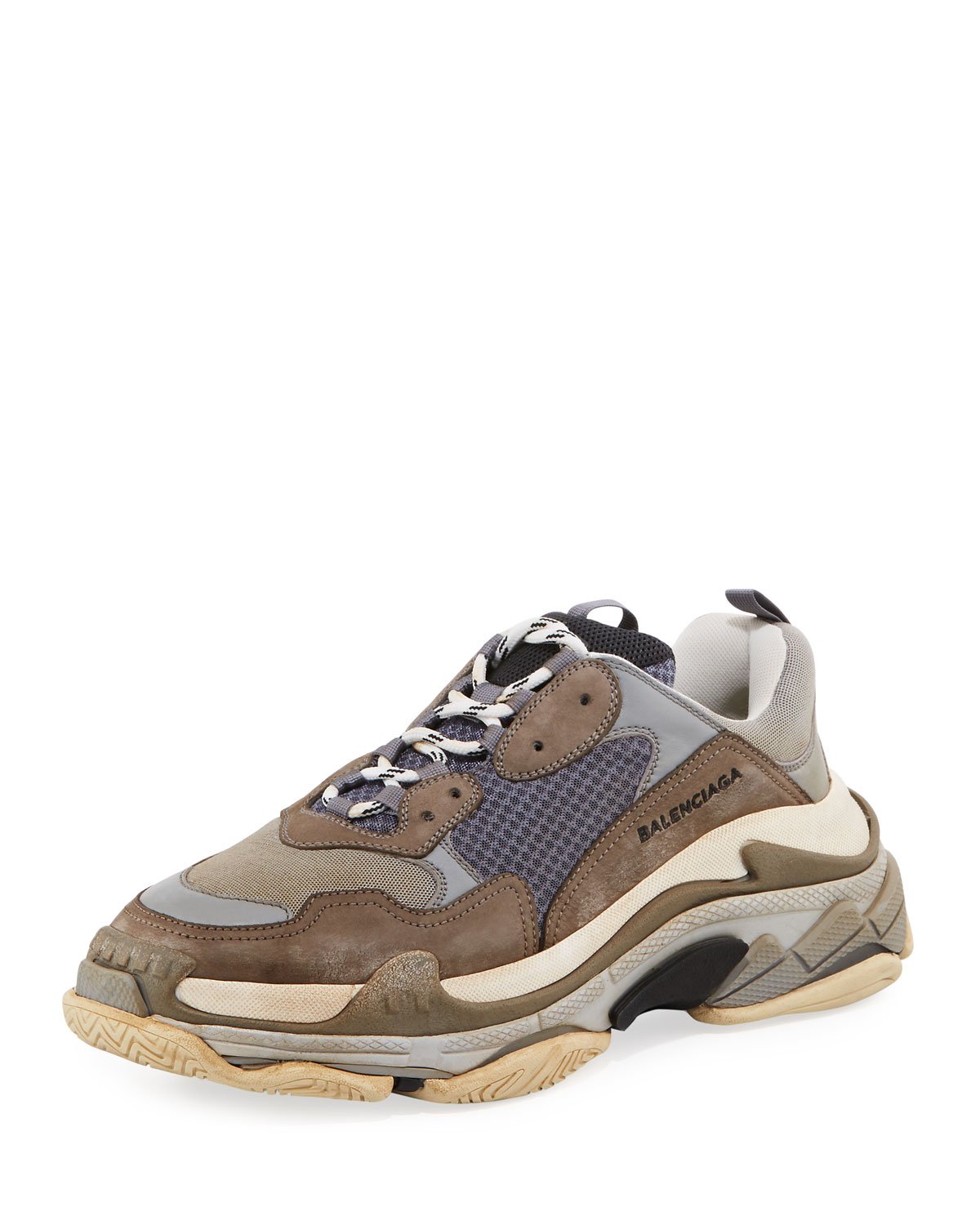 aa858aec58bd Balenciaga Triple S Mesh   Leather Trainer Sneaker