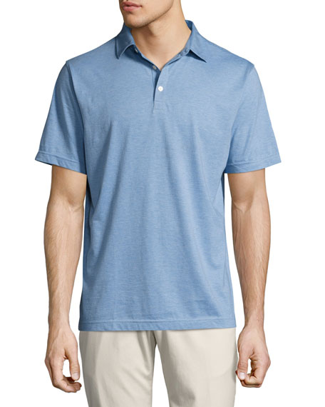 Crown Soft Striped Cotton-Silk Polo Shirt