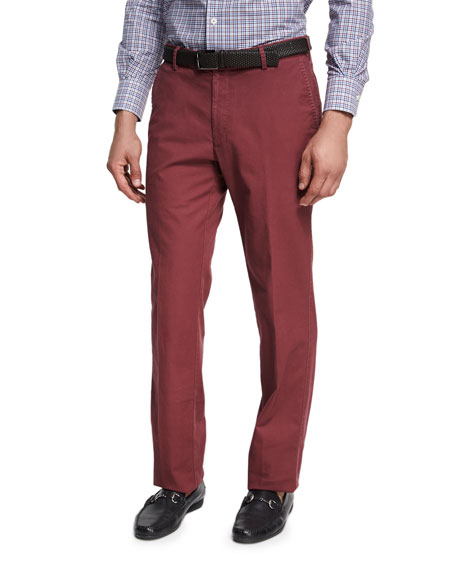Soft Touch Twill Pants, Wine