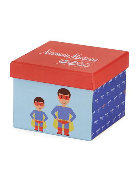 Dad & Dude Superhero Dinosaur Socks Cube, Multicolor
