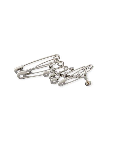 Alexander McQueen Men's Safety Pin Clip-On Jacket Earring