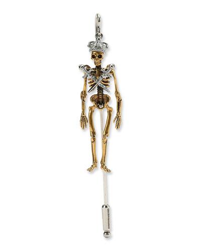 King Skeleton Lapel Pin