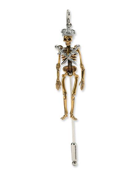 Alexander McQueen King Skeleton Lapel Pin