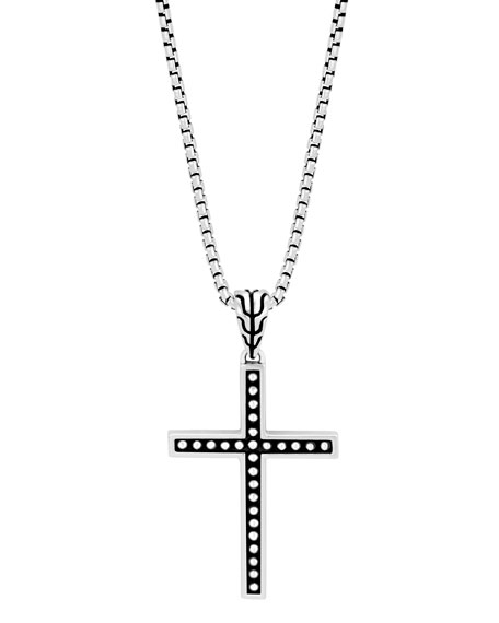 John Hardy Men's Classic Chain Jawan Cross Pendant