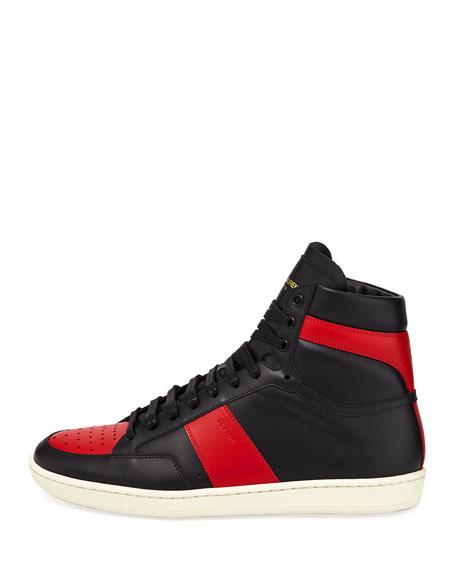 SL/10H Men's Signature Court Classic Leather High-Top Sneaker