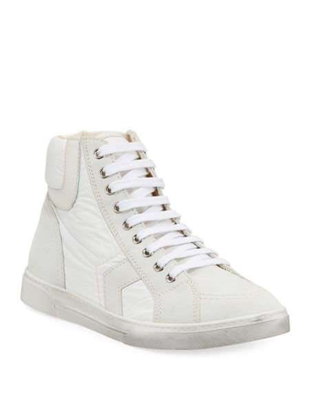 Saint Laurent Men's Antibe Leather Mid-Top Sneaker