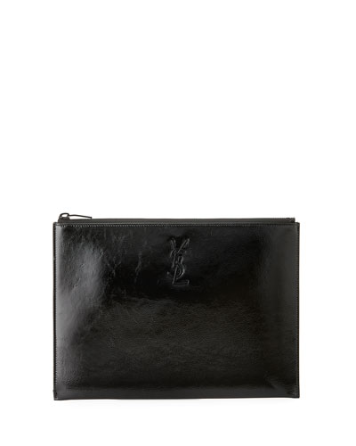 Monogram Patent Leather Zip-Top Pouch