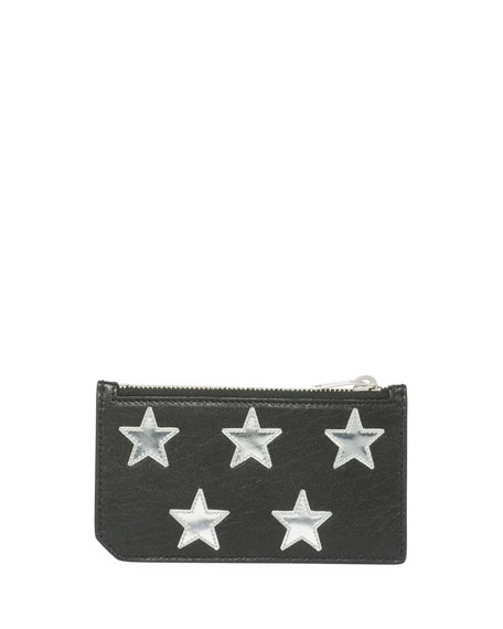 Fragment Patent Star Leather Zip Card Case