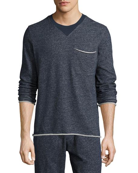 ATM Anthony Thomas Melillo Brushed-Back Terry Raw-Cut Sweatshirt,
