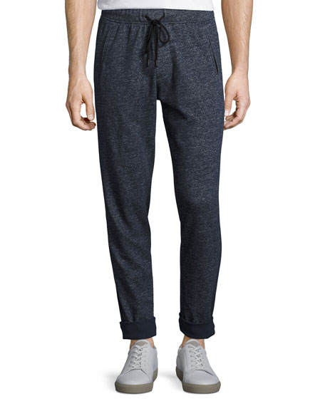 ATM Anthony Thomas Melillo Brushed-Back Terry Sweatpants, Navy