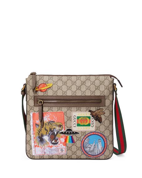 Gucci Gg Supreme AppliquÉd Messenger Bag Beige Tan In Neutrals