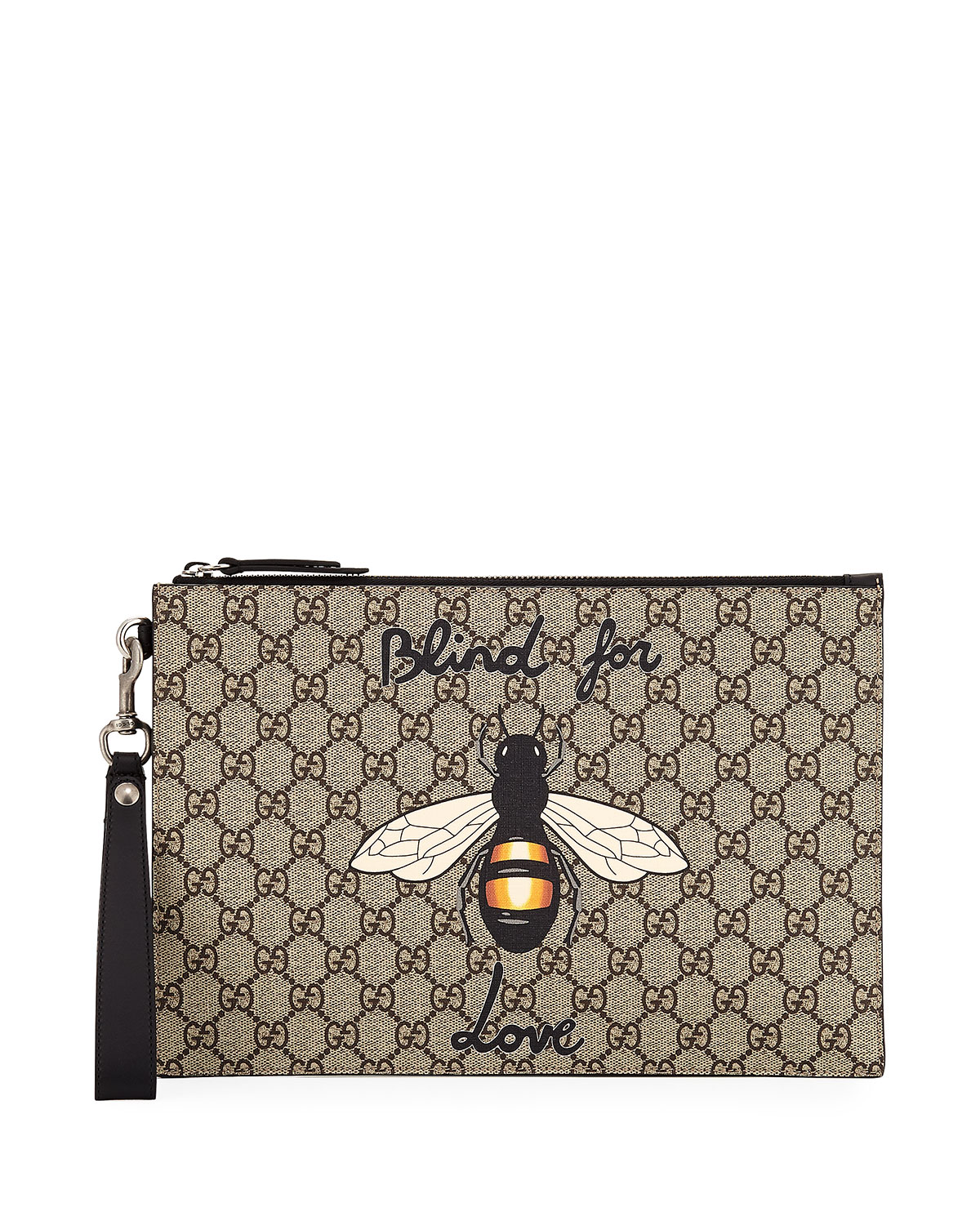 f5a5f8ecf71 Gucci Blind for Love Bee GG Supreme Pouch