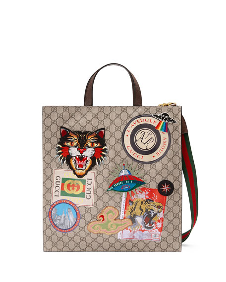 Gucci Gucci Courier Soft GG Supreme Tote Bag