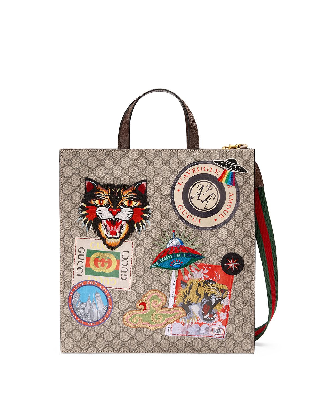 Gucci Gucci Courier Soft GG Supreme Tote Bag  b27d44535645f
