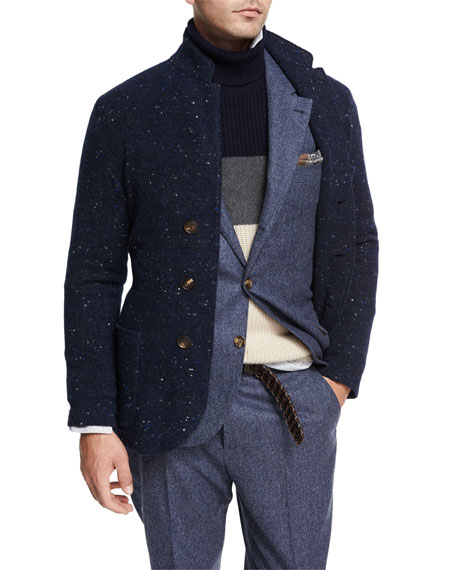 Brunello Cucinelli Donegal Knit Sweater Jacket