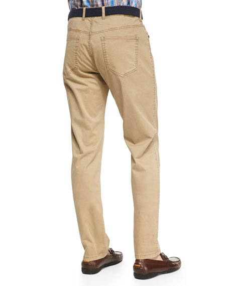 Stretch Five-Pocket Twill Pants
