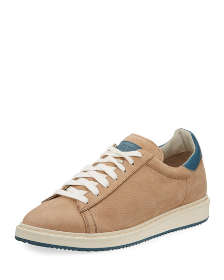 Brunello Cucinelli Men's Icarus Suede Low-Top Sneaker