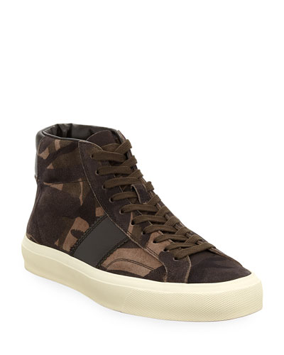 Cambridge Camouflage Suede High-Top Sneaker