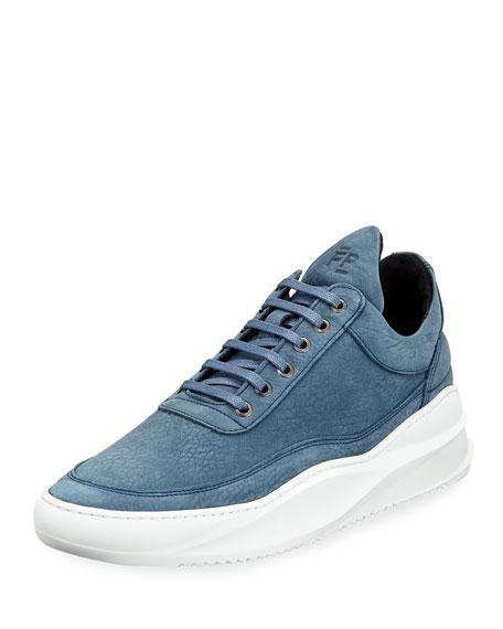 Men's Sky Low-Top Nubuck Leather Sneakers