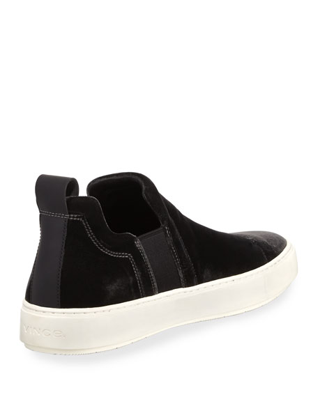Men's Lucio Velvet Slip-On Sneakers