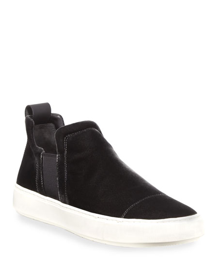Lucio Velvet Slip-On Sneaker