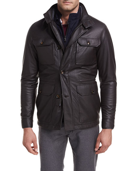 Woodland Deerskin Leather Discovery Field Jacket