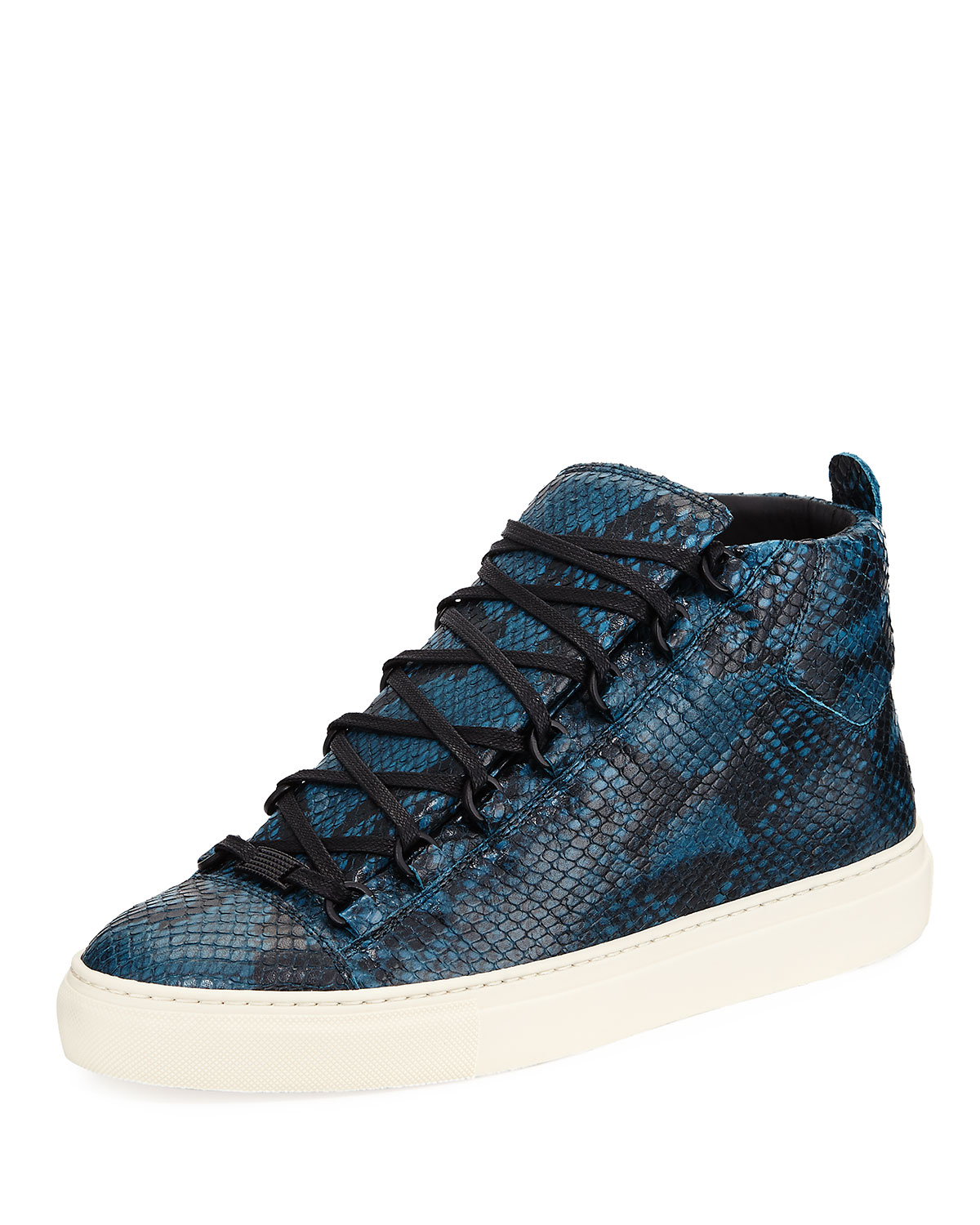 2020077836a5 Balenciaga Men s Arena Python-Embossed Leather High-Top Sneaker ...