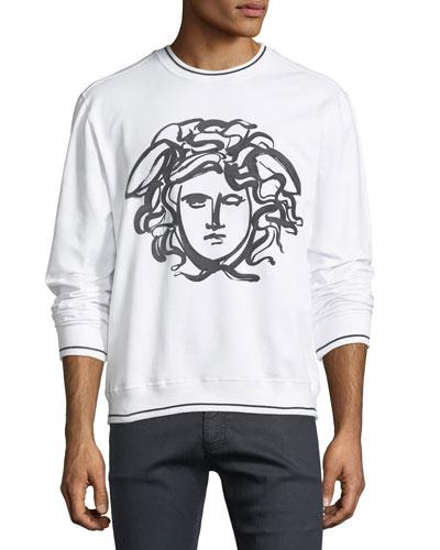 Painted Medusa Cotton Sweatshirt