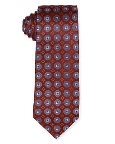 Woven Medallion Silk Tie