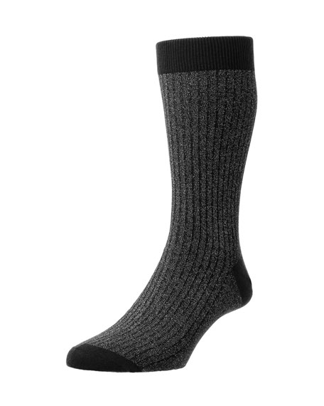 Scala Soft-Touch Sparkle Tuxedo Socks