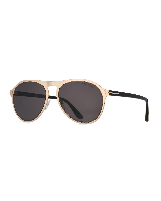 9c71f4e7520 TOM FORD Bradbury Metal Aviator Sunglasses