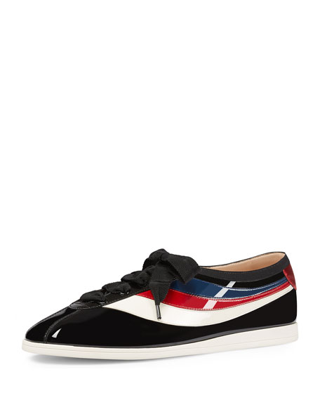 Gucci Falacer Patent Bowler