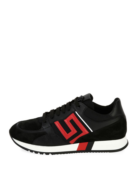 Image 3 of 4: Greek Key Running Shoe, Black