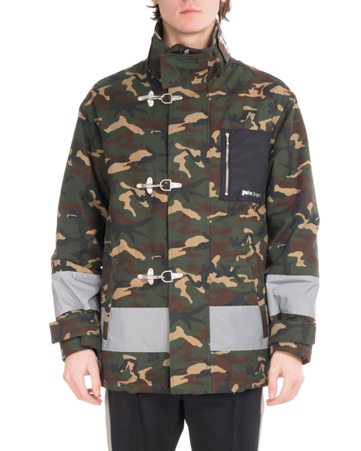 0d1bbde824867 Palm Angels Camouflage Fireman Utility Jacket, Green | Neiman Marcus