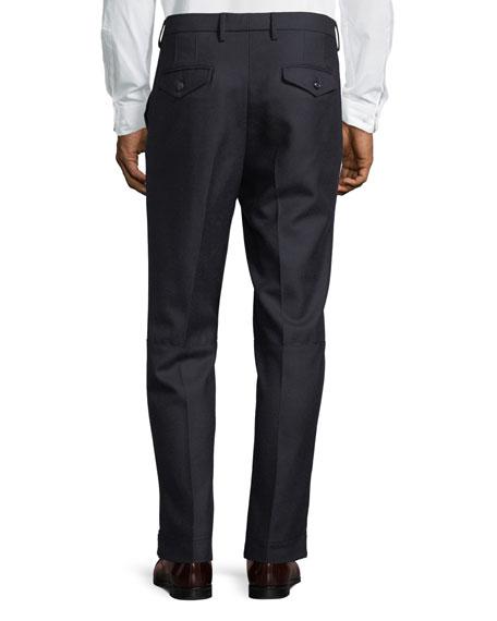Pleat-Front Wool Dress Pants