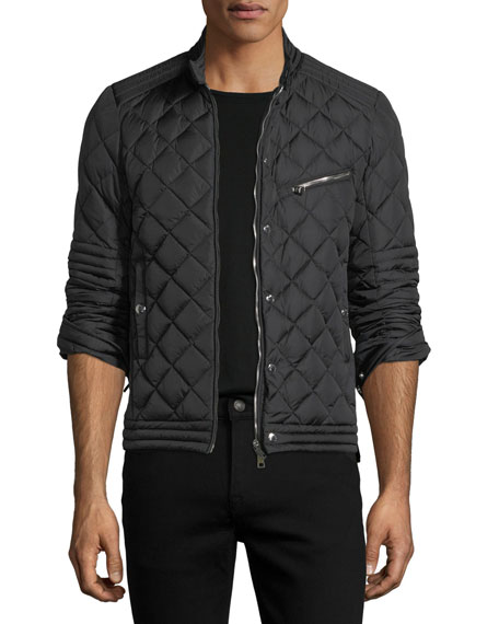 Fred Quilted Nylon Cafe Racer Jacket