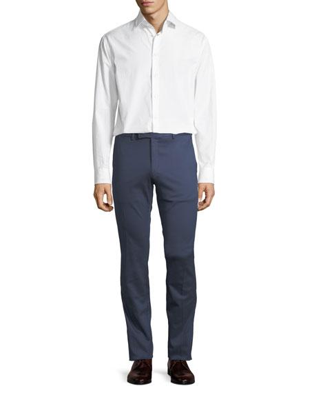 Slim-Fit Twill Trousers