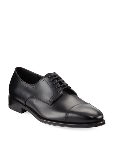 Mabel Leather Cap-Toe Oxford