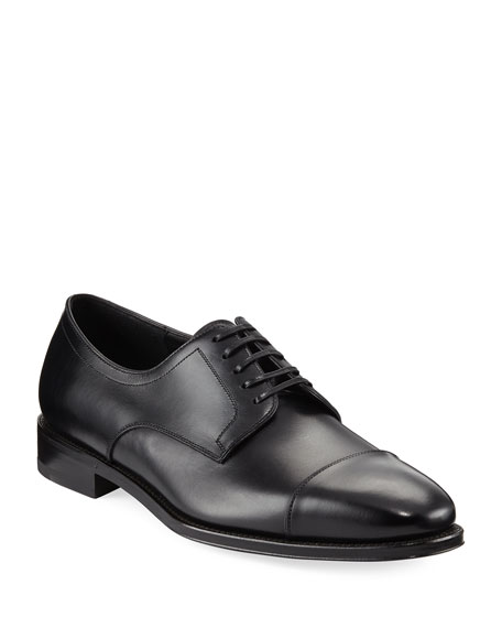 Salvatore Ferragamo Men's Leather Cap-Toe Oxford