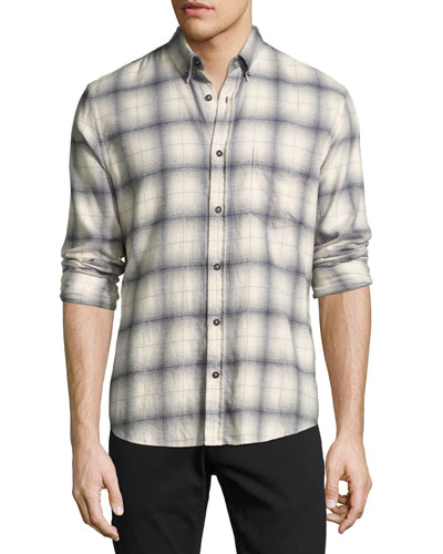 Kirby Slim-Fit Plaid Oxford Shirt