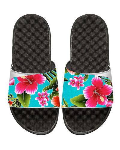 Kauai Tropical Floral Slide Sandal