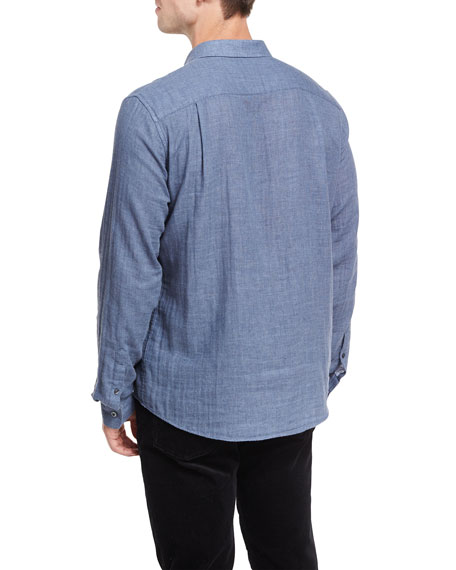 Double-Face Chambray Shirt