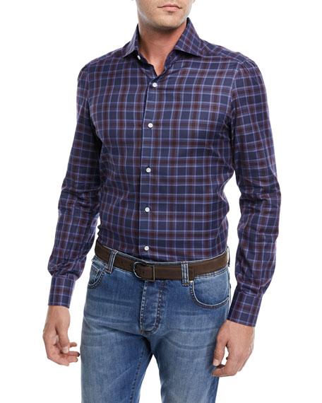 Plaid Cotton Dress Shirt