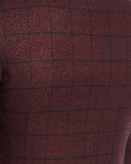 Canali Windowpane Cashmere Two-Button Sport Coat