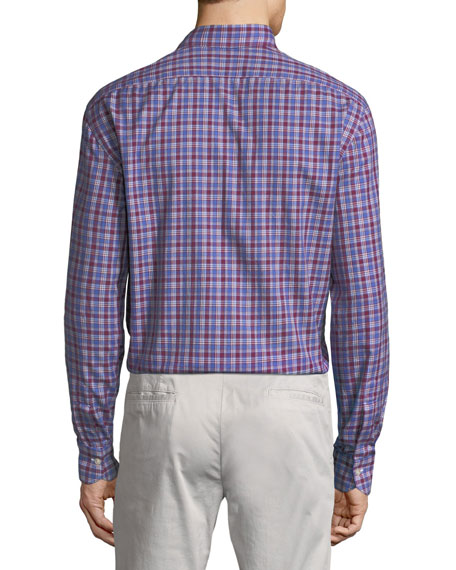 Kiton Casual Plaid Cotton Shirt